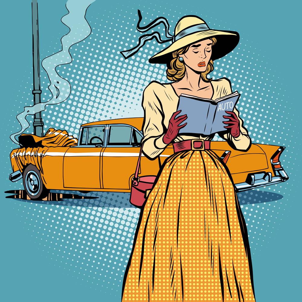 « Dépannage, réparation, remplacement, assurance… ok, ok. Mais qui va me souffler une fausse excuse pour expliquer l'accident à mon mari ? »