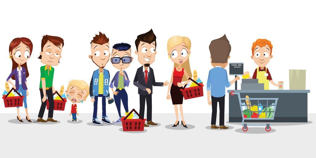 Dans les commerces du futur, il ne sera plus possible de draguer en faisant la queue, car il n'y aura plus de file d'attente…